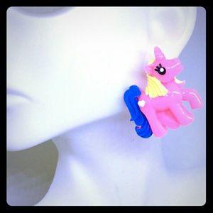 Barbie Pink Unicorn Stud/Statement Earrings